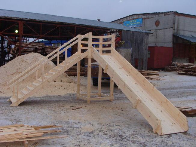 Как построить детскую деревянную горку своими руками 48