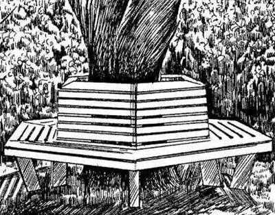Проект приствольной скамейки