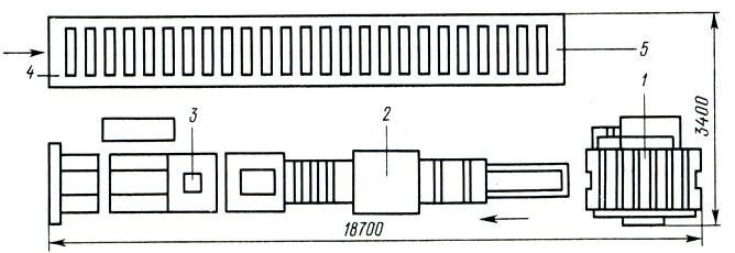 Схема линии ОК502 для