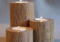 Деревянные подсвечники, которые легко сделать своими руками